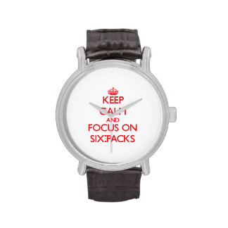 Keep Calm and focus on Six-Packs Wrist Watches