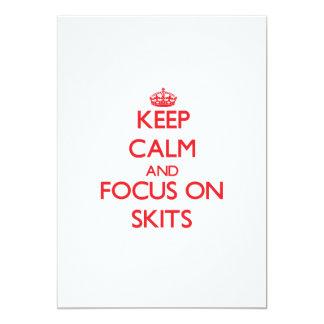 Keep Calm and focus on Skits 13 Cm X 18 Cm Invitation Card