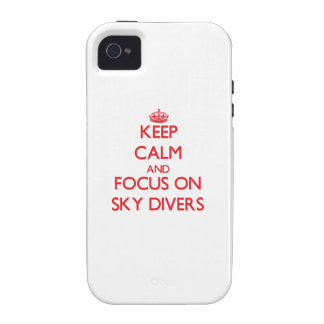 Keep Calm and focus on Sky Divers Case-Mate iPhone 4 Cover