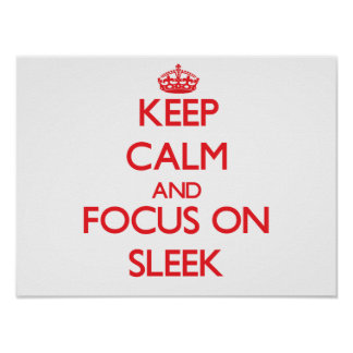 Keep Calm and focus on Sleek Posters