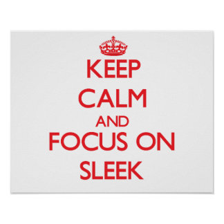 Keep Calm and focus on Sleek Poster
