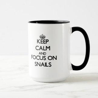 Keep Calm and focus on Snails Mug