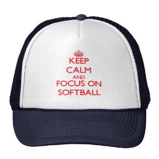 Keep calm and focus on Softball Mesh Hats