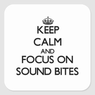 Keep Calm and focus on Sound Bites Stickers