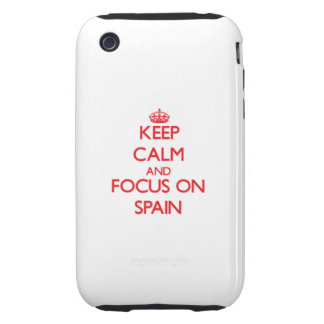 Keep Calm and focus on Spain iPhone3 Case