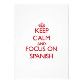 Keep Calm and focus on Spanish Card