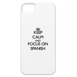 Keep Calm and focus on Spanish iPhone 5/5S Case