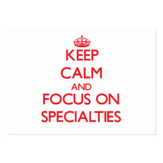 Keep Calm and focus on Specialties Pack Of Chubby Business Cards
