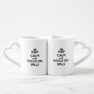 Keep Calm and focus on Spills Couple Mugs