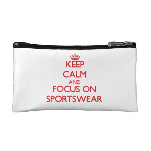 Keep Calm and focus on Sportswear Makeup Bags