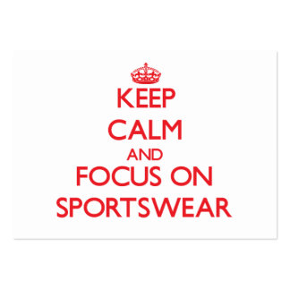 Keep Calm and focus on Sportswear Business Card Template