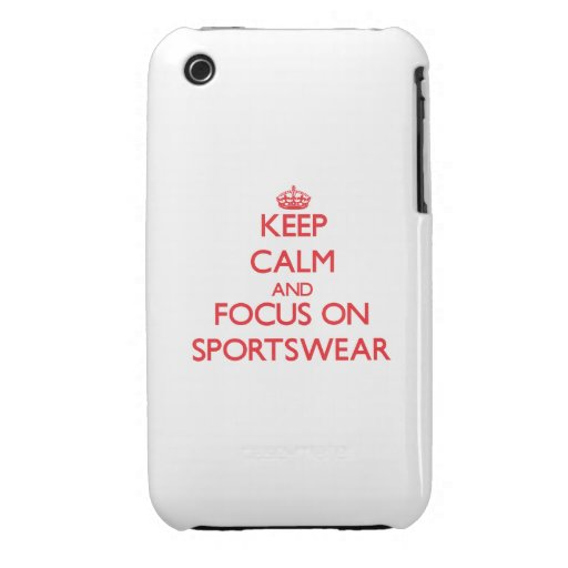 Keep Calm and focus on Sportswear iPhone 3 Case-Mate Case