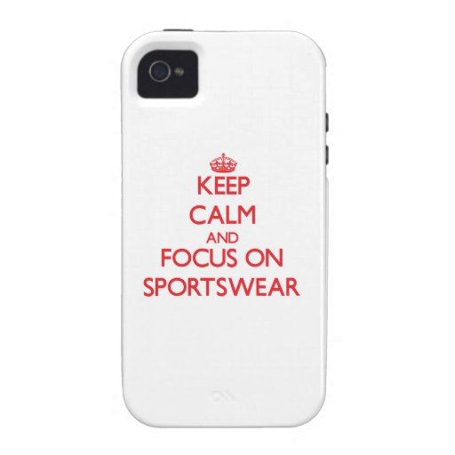 Keep Calm and focus on Sportswear iPhone 4/4S Cases