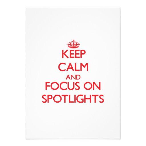 Keep Calm and focus on Spotlights Announcement