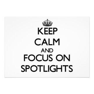 Keep Calm and focus on Spotlights Card