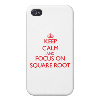 Keep Calm and focus on Square Root iPhone 4/4S Covers