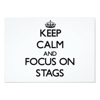 """Keep Calm and focus on Stags 5"""" X 7"""" Invitation Card"""