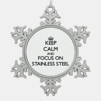 Keep Calm and focus on Stainless Steel Pewter Snowflake Decoration