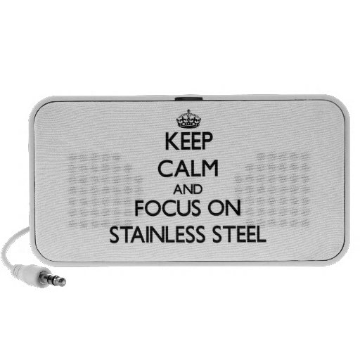 Keep Calm and focus on Stainless Steel iPod Speaker