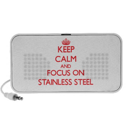 Keep Calm and focus on Stainless Steel Portable Speaker