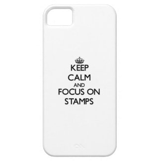 Keep Calm and focus on Stamps Cover For iPhone 5/5S