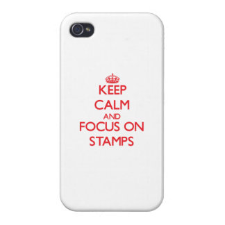 Keep Calm and focus on Stamps iPhone 4/4S Cover