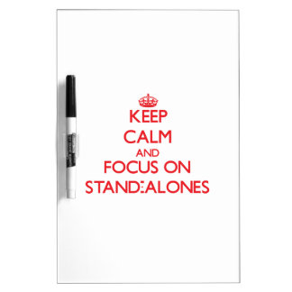 Keep Calm and focus on Stand-Alones Dry Erase Boards