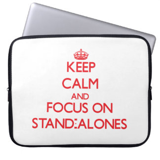 Keep Calm and focus on Stand-Alones Laptop Computer Sleeves
