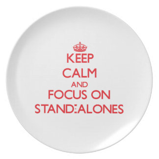 Keep Calm and focus on Stand-Alones Party Plate