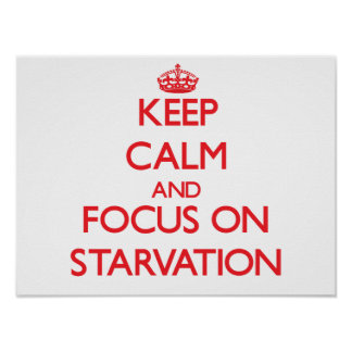 Keep Calm and focus on Starvation Poster