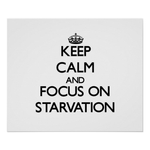 Keep Calm and focus on Starvation Posters
