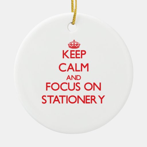 Keep Calm and focus on Stationery Christmas Tree Ornament