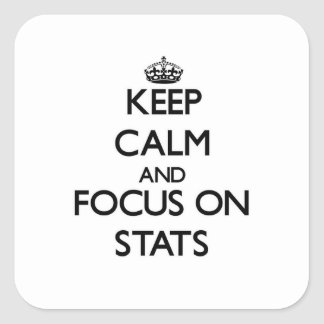 Keep Calm and focus on Stats Square Sticker