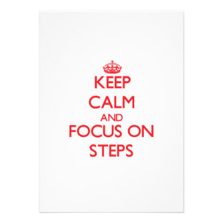 Keep Calm and focus on Steps Personalized Announcement