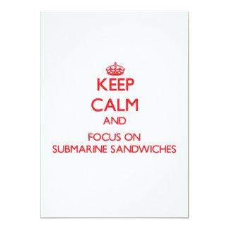 Keep Calm and focus on Submarine Sandwiches Card