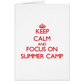 Keep Calm and focus on Summer Camp Card