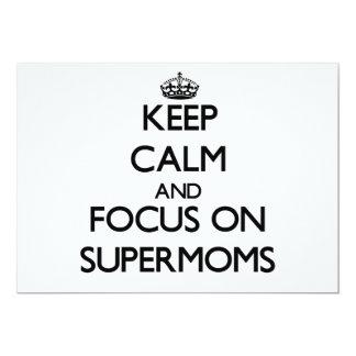 Keep Calm and focus on Supermoms Custom Invite