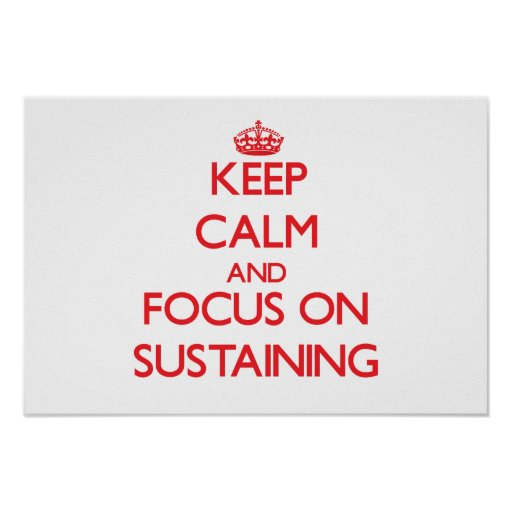 Keep Calm and focus on Sustaining Poster