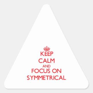 Keep Calm and focus on Symmetrical Sticker