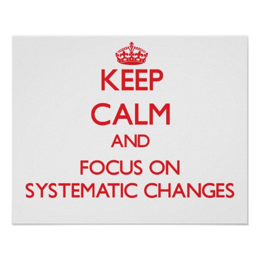 Keep Calm and focus on Systematic Changes Posters