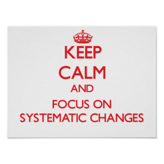Keep Calm and focus on Systematic Changes Poster
