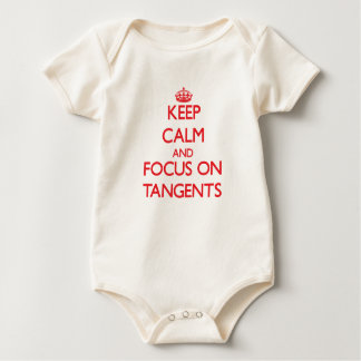 Keep Calm and focus on Tangents Baby Bodysuit