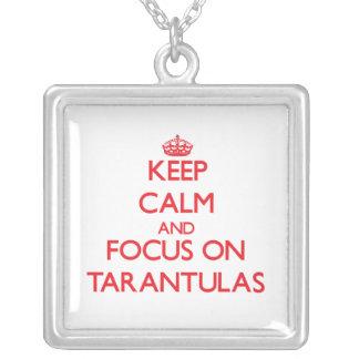 Keep Calm and focus on Tarantulas Necklace