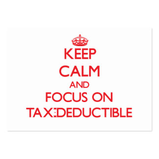 Keep Calm and focus on Tax-Deductible Business Cards