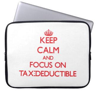 Keep Calm and focus on Tax-Deductible Computer Sleeve