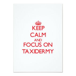 Keep Calm and focus on Taxidermy Card