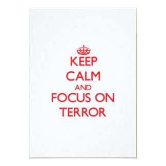 Keep Calm and focus on Terror Card