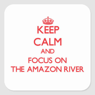 Keep Calm and focus on The Amazon River Square Sticker