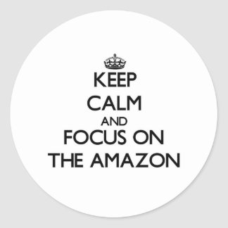 Keep Calm and focus on The Amazon Sticker