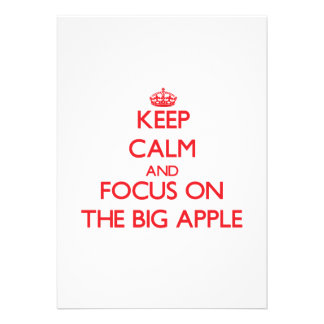 Keep Calm and focus on The Big Apple Personalized Announcements